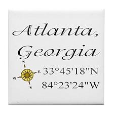Geocaching Atlanta, Georgia Tile Coaster