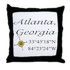 Geocaching Atlanta, Georgia Throw Pillow