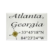 Geocaching Atlanta, Georgia Rectangle Magnet