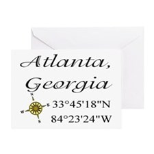 Geocaching Atlanta, Georgia Greeting Card