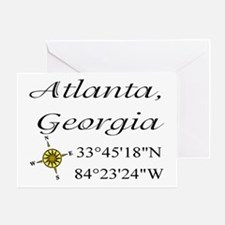 Geocaching Atlanta, Georgia Greeting Card