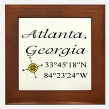 Geocaching Atlanta, Georgia Framed Tile