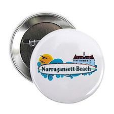 "Narragansett RI - Surf Design 2.25"" Button"
