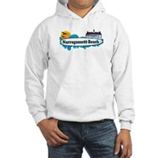 Narragansett RI - Surf Design Hoodie