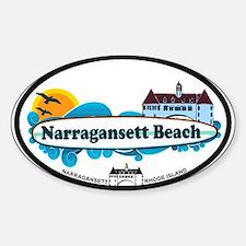 Narragansett RI - Surf Design Sticker (Oval)