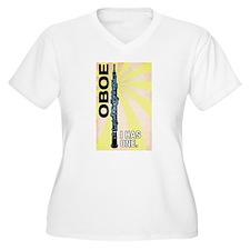 Oboe. I HAS ONE. Women's Plus V-Neck Tee