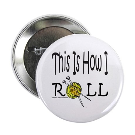 """KNIT/KNITTING 2.25"""" Button (10 pack)"""