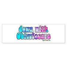 Down With Obizzlecare Bumper Sticker