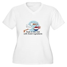 Stork Baby Netherlands USA T-Shirt