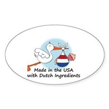 Stork Baby Netherlands USA Decal