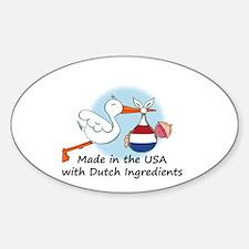 Stork Baby Netherlands USA Sticker (Oval)