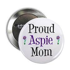 "Proud Aspie Mom 2.25"" Button"