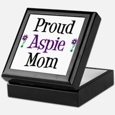 Proud Aspie Mom Keepsake Box
