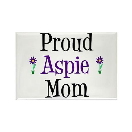 Proud Aspie Mom Rectangle Magnet