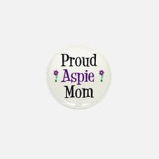 Proud Aspie Mom Mini Button (10 pack)