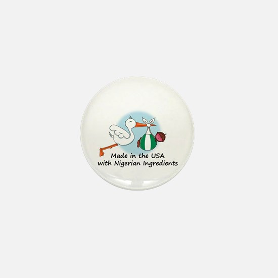Stork Baby Nigeria USA Mini Button