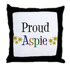Proud Aspie Throw Pillow