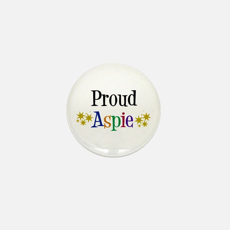 Proud Aspie Mini Button (10 pack)