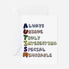Autism Acronym Greeting Card