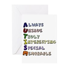 Autism Acronym Greeting Cards (Pk of 10)