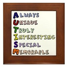 Autism Acronym Framed Tile