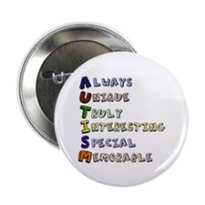 "Autism Acronym 2.25"" Button"