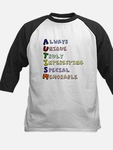 Autism Acronym Kids Baseball Jersey