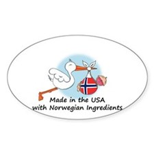 Stork Baby Norway USA Decal