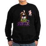 Basset Hound Easter Sweatshirt (dark)