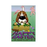 Basset Hound Easter Rectangle Magnet (10 pack)