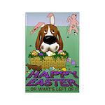 Basset Hound Easter Rectangle Magnet (100 pack)