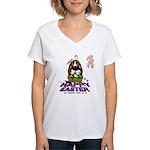 Basset Hound Easter Women's V-Neck T-Shirt