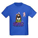 Basset Hound Easter Kids Dark T-Shirt