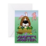 Basset Hound Easter Greeting Card