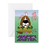 Basset Hound Easter Greeting Cards (Pk of 10)