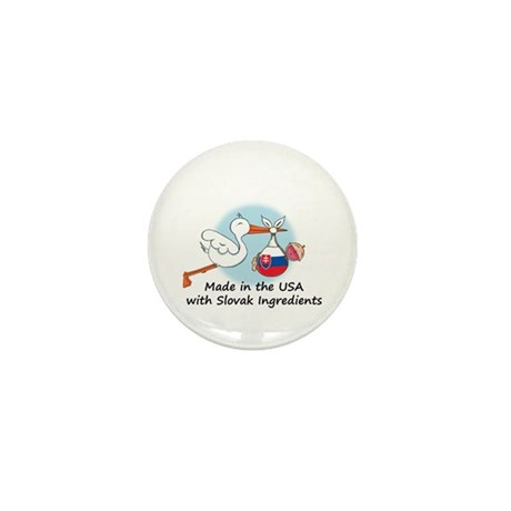 Stork Baby Slovakia USA Mini Button