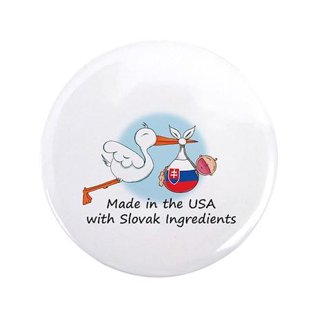 "Stork Baby Slovakia USA 3.5"" Button"