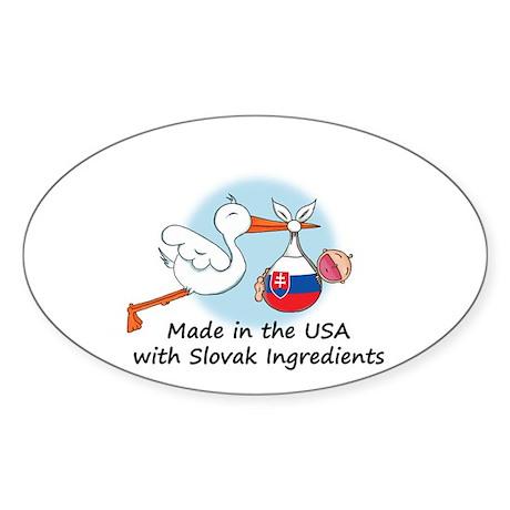 Stork Baby Slovakia USA Sticker (Oval)