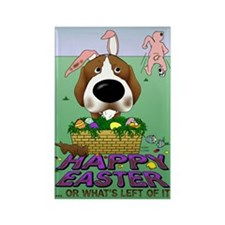 Beagle Happy Easter Rectangle Magnet
