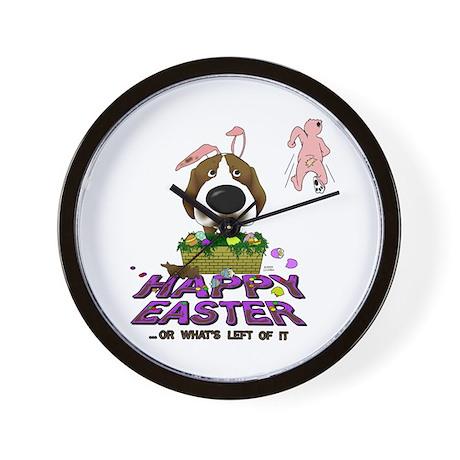 Beagle Happy Easter Wall Clock