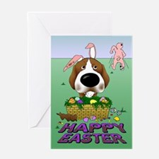 Beagle Happy Easter Greeting Card