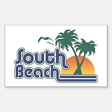 South Beach Sticker (Rectangle)