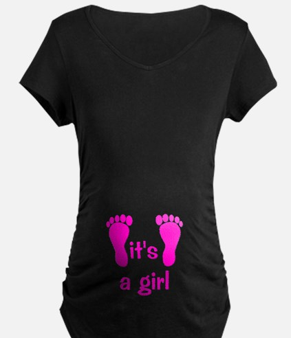 Pink Baby Footprints T-Shirt