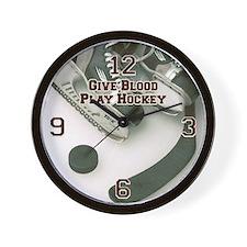 Give Blood, Play Hockey Wall Clock