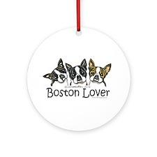 Boston Lover Ornament (Round)