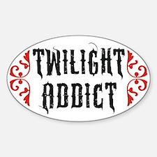 Twilight Addict Sticker (Oval)