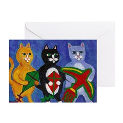 Cats with Kites Greeting Cards (Pk of 20)