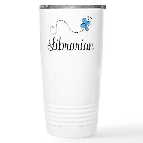 Cute Librarian Stainless Steel Travel Mug