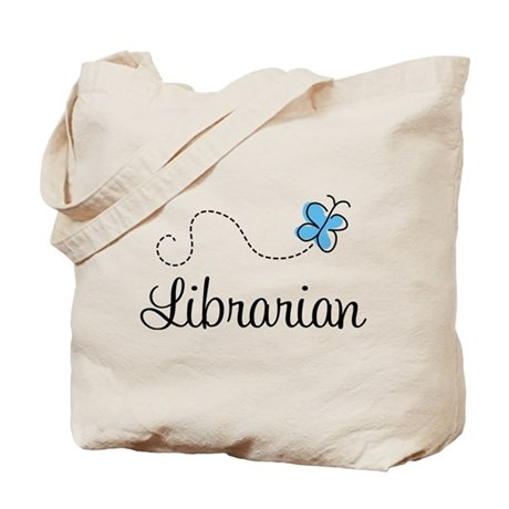 Cute Librarian Tote Bag
