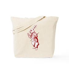 White Rabbit Red Tote Bag